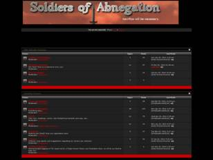 Soldiers of Abnegation [SoA] Clan Forums