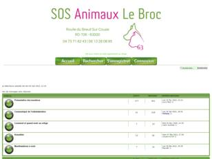 creer un forum : SOS ANIMAUX LE BROC