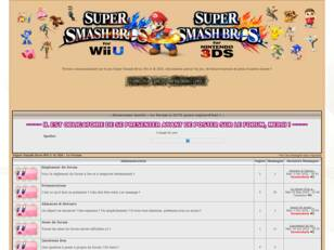 Super Smash Bros Wii U & 3DS : Le Forum