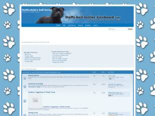 Staffordshire Bull Terrier Chat Forum & Info