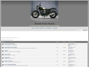 Forum de discussion dédié à la moto Triumph Street Twin