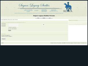 Sugars Legacy Stables Forums