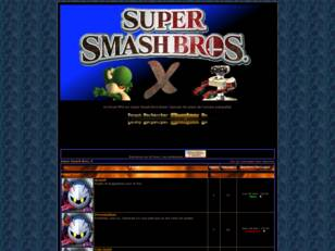 créer un forum : Super Smash Bros. X