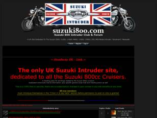 Suzuki Intruder 800 Club & Forum UK - www.suzuki800.com