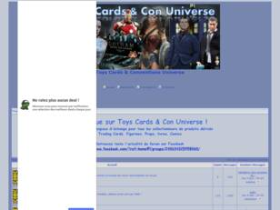 Toys Cards and Conventions Universe