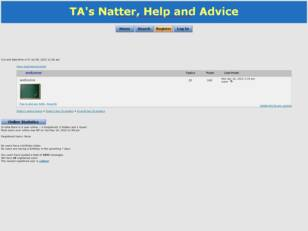 Free forum : TA's Natter, Help and Advice