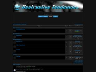 Free forum : dT | Destructive Tendencies™