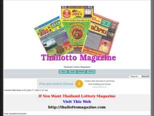 Thai Lotto Thailand Lottery Magazines