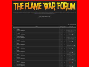 The Flame War Forum