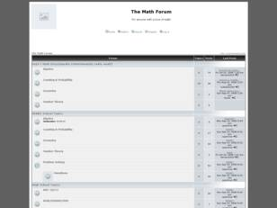 Forum gratuit : The Math Forum