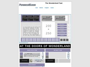 The Wonderland Test