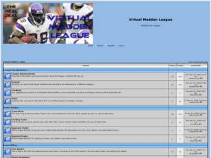 Free forum : Virtual Madden League