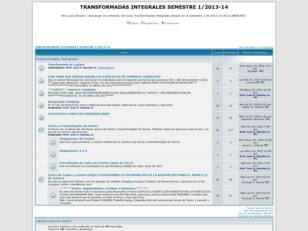 TRANSFORMADAS INTEGRALES SEMESTRE 1-2009