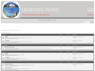 Updated Words Forums