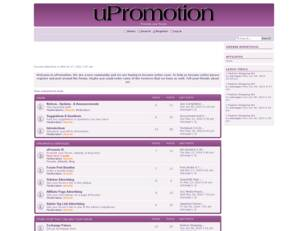 uPromotion - The Forum Where U Promote