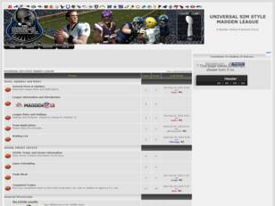 Free forum : Universal Sim Style Madden League