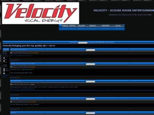 VELOCITY - SCOUSE HOUSE ENTERTAINMENT