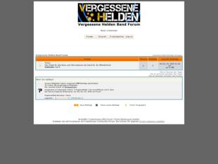 Vergessene Helden Band Forum