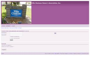 Free forum : Villa Chateau Owners Site