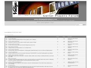 Vintage Guitar Players Forum