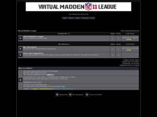 Virtual Madden League