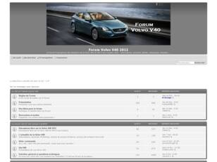 Forum Volvo V40 et V40 Cross Country 2012