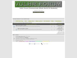 Vulhr Forum (Communicate Whole World VU Students)