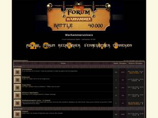 Forum Warhammer Battle et Warhammer 40 000