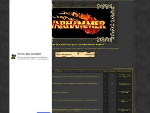 Forum de Creation pour Warhammer Battle