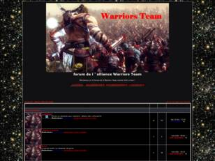 forum de l ' alliance Warriors Team