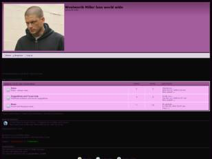 Free forum : Wentworth Miller fans world wide
