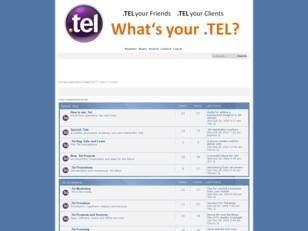 The .Tel Domain Promotion Forum