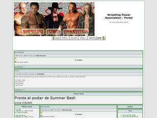 Foro gratis : Wrestling Power Association