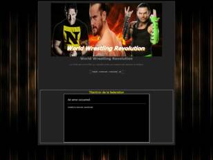 créer un forum : World Wrestling Revolution