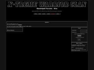 X-TREME WARRIOR CLAN OFFICIAL FORUM SITE