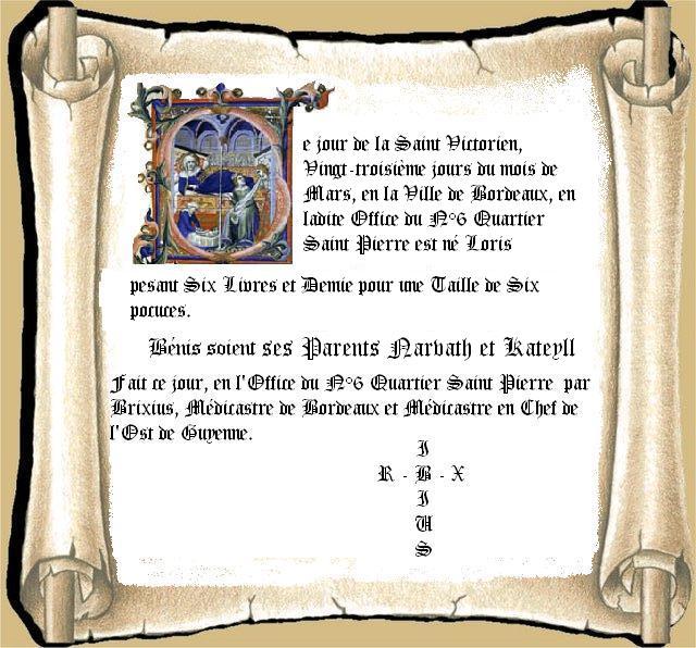(10 novembre 1457 à...) 11650Acte_de_Naissance_Loris