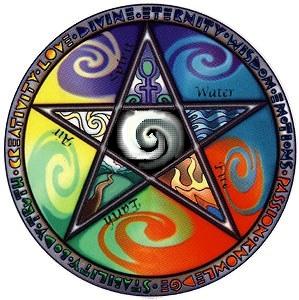 """La Magie élémentaire ou """"magie de base"""" 175079123461_ZIF6G37GWCYVIVMFXM858S14EA6EQ4_pentacle_5_elements_H130837_L"""