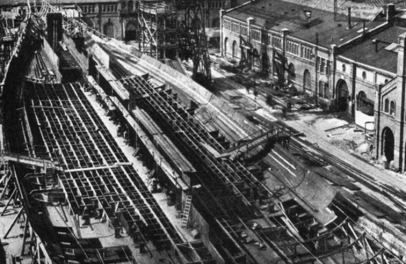 ALLEMAGNE CROISEURS DE BATAILLE CLASSE DERFFLINGER 246033SMS_Hindenburg_construction