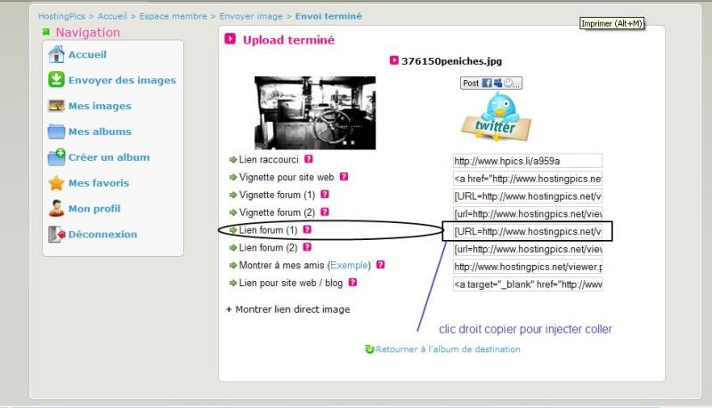 TUTO :  Comment poster des photos sur le forum avec Hostingpics.net 409900hostings