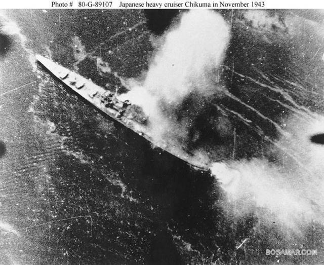 JAPON CROISEURS LOURDS CLASSE TONE 450478Chikuma_November_1943