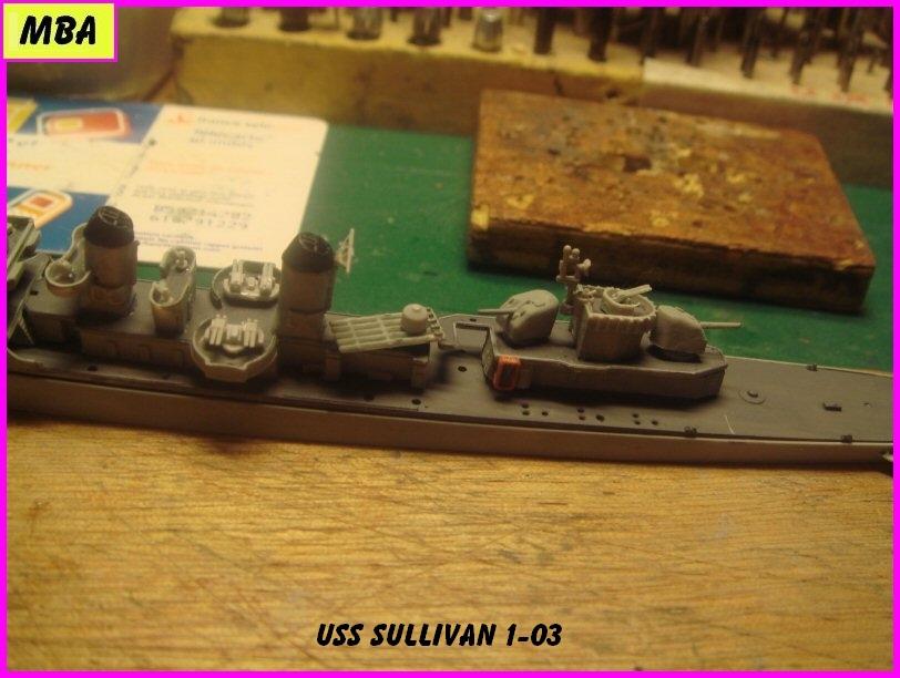 USS the Sullivan DD 537 au 1/700 trumpeter 476486usssullivan103