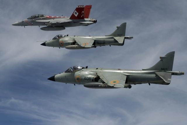 BRITISH AEROSPACE HARRIER ET SEA HARRIER 507771Sea_Harrier_et_Hornet_Malabar_07