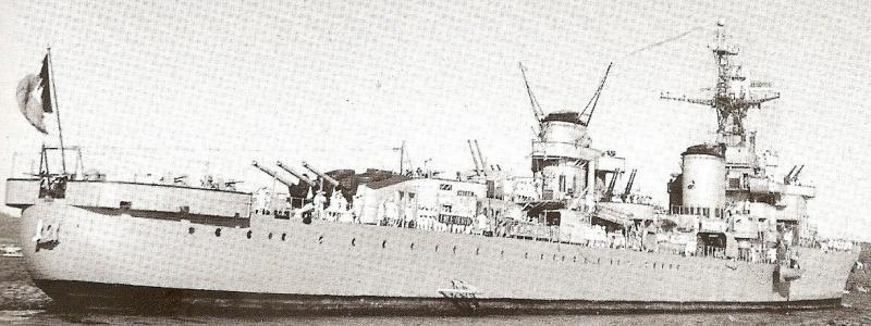 FRANCE CROISEUR LEGER EMILE BERTIN 511565Emile_Bertin_Toulon_29_juillet_1946