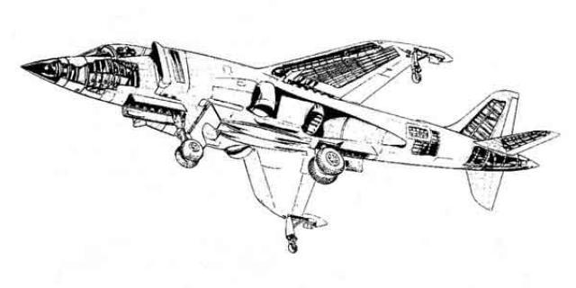 BRITISH AEROSPACE HARRIER ET SEA HARRIER 578074Hawker_Siddeley_P.1154_2