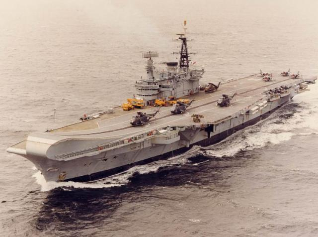 BRITISH AEROSPACE HARRIER ET SEA HARRIER 597195HMS_Hermes_1984