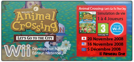 Animal Crossing: Let's Go To The City | Wii 870888letsgotothecity