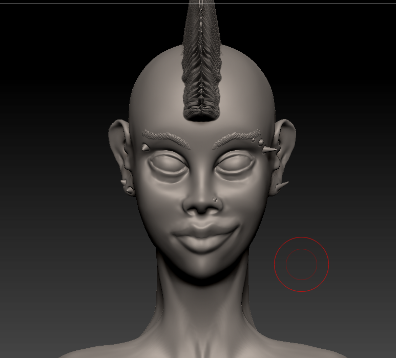 3D with Zbrush. 910148punkettegrosplan