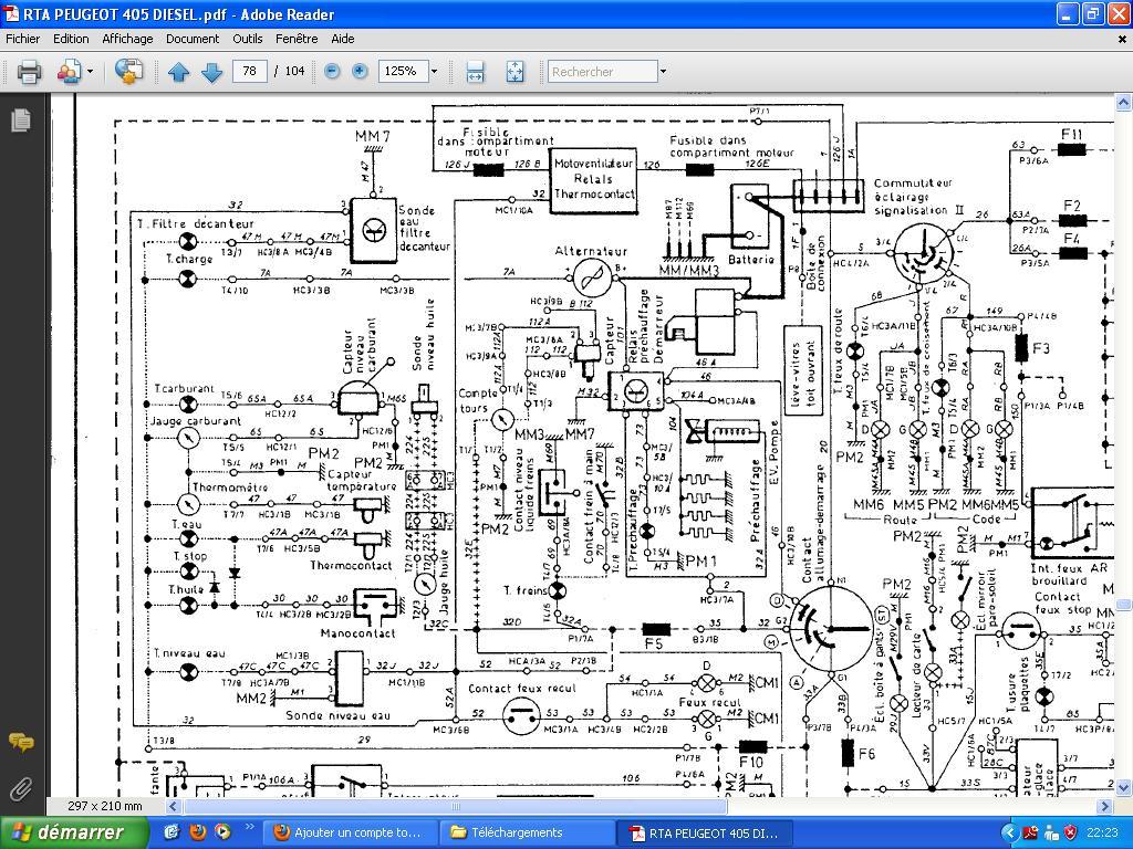 Ajouter un compte tour sur 405 diesel. - Page 2 968842Schema_electrique