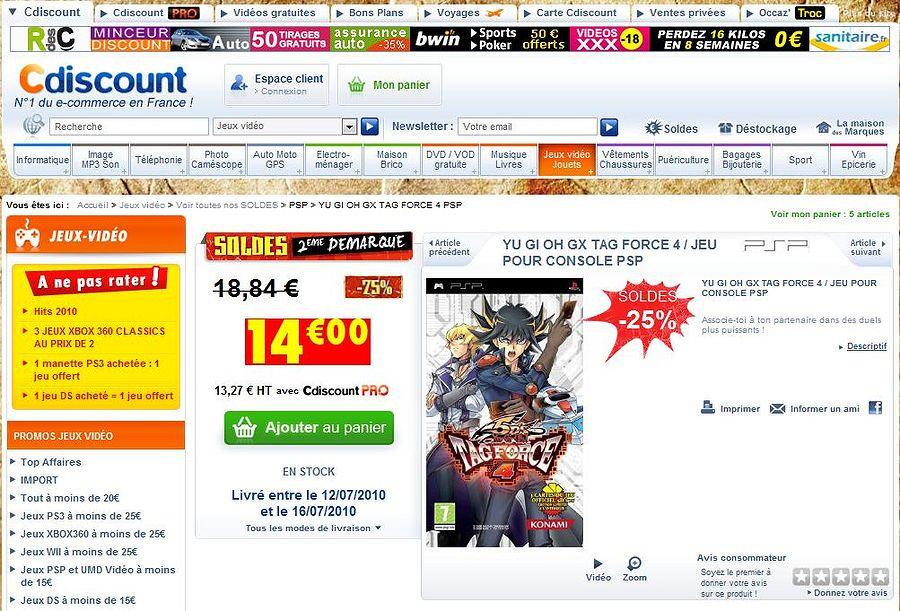 Tag Force 4 en solde sur Internet ! 979192TagForce4