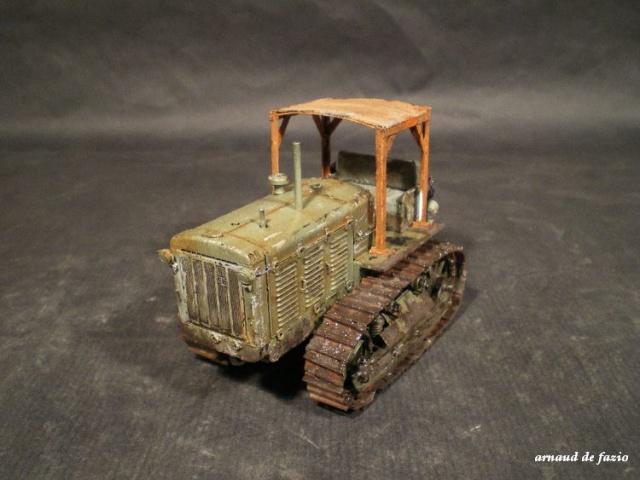 tracteur d artillerie soviétique chtz s-65 version allemande 1/35 trumpeter,tirant 2 blitz de la boue 113285IMGP1856